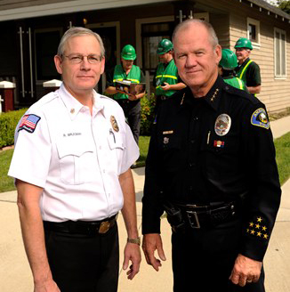 Two Police Chiefs in uniform