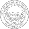 City of Anaheim black and white seal