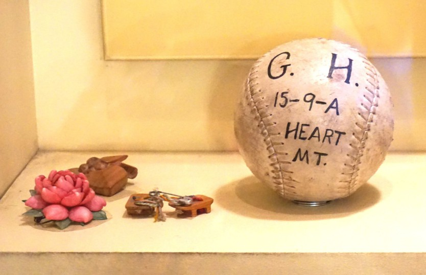 George Hirahara's softball at the Smithsonian